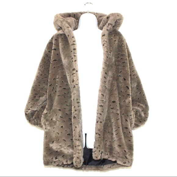 Vintage Jackets & Blazers - Vintage Oversized Plush Teddy Bear Hoodie Coat
